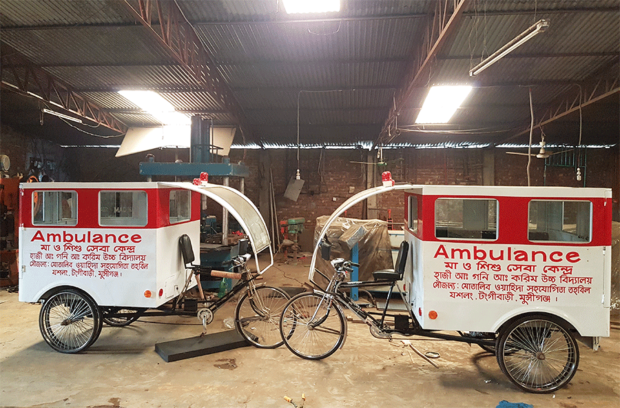 The solar-powered ambulance for rural areas!